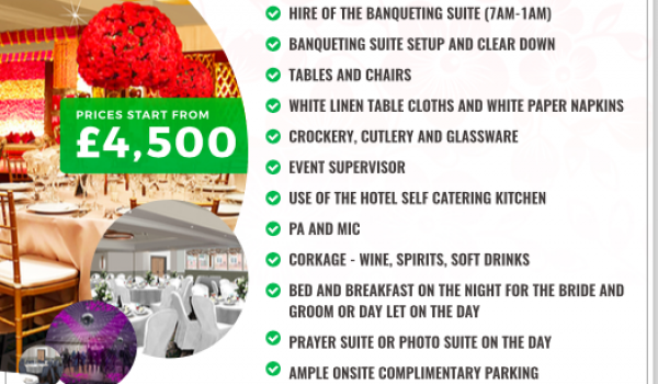 Our exclusive wedding offer